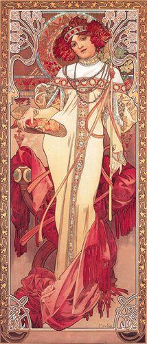 Pthinoporon {goddess of the season of Autumn} [Alphonse Mucha]