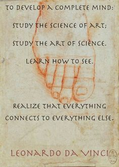 Line example – Study of a foot, by Leonardo Da Vinci. Da Vinci used many… Great Quotes, Quotes To Live By, Me Quotes, Inspirational Quotes, Da Vinci Quotes, E Mc2, Artist Quotes, Wise Words, Favorite Quotes