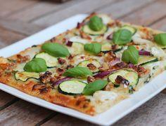 recept zelfgemaakte pizza pesto geitenkaas