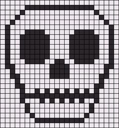 Skull friendship bracelet pattern number 4901 - For more halloween patterns visit our web or the app!