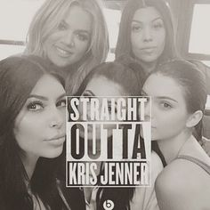 Khloe Kardashian Posts Funny Straight Outta Kris Jenner Meme With All Her Sisters
