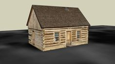 Theodore Roosevelt's Maltese Cross Ranch Cabin - 3D Warehouse