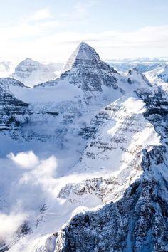 Mountains + snow + blue sky
