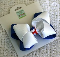 4th of July Layered Bow  Patriotic Hair Bow  by NeverlandNook, $6.00