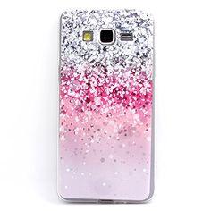 JIAXIUFEN TPU Coque - pour Samsung Galaxy Grand Prime G530/G530H/G530FZ/G5308W/G5309W/G5306W- Pink Gray White Drops