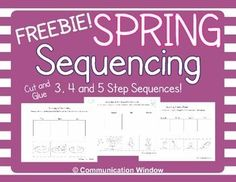 FREE Spring Sequencing Cut and Glue Worksheets