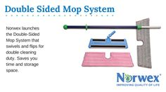 First you drag out the dust mop, then you drag out the wet mop. Talk about work! Now all you need is one mop. Our Norwex Double-Sided Mop System swivels and flips for double cleaning duty. Saves you time and storage space. Available as a complete system as well as individual components.