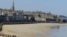 La plage du Sillon, à Saint-Malo, a été élue 3e plus belle plage de France.