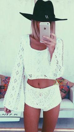 white. boho summer.