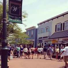 "Cape May, NJ. ""The Mall"" is a great place to shop. Look for the Whale's Tail."