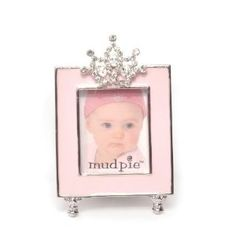 Little Princess Jeweled Pink Enamel Photo Frame