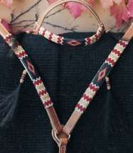 Apache II Handmade Beaded Tack Set