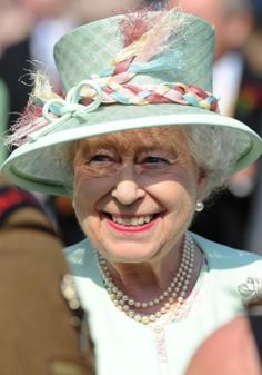 Queen Elizabeth II attending a Garden Party at Buckingham Palace, London, 6 June 2013