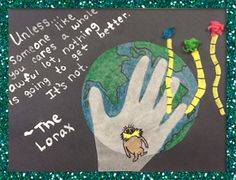 Chalkboard Art Craft with a Quote from The Lorax