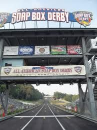 Finish line - Derby Downs - Akron, Ohio - soap box derby