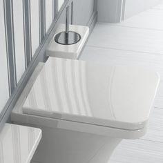 Hidra Ceramica | wandhängender Toilettenbürstenhalter | Piano | Keramik | Design: Paolelli Meneghello