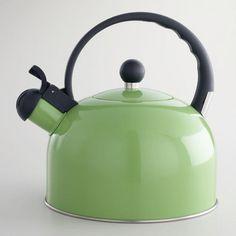 One of my favorite discoveries at WorldMarket.com: Enamel Tea Kettle, Green