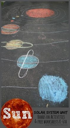 This week we began our solar system unit. You will find lots of fun, hands on science projects and ideas for learning about the sun, our . Solar System Worksheets, Solar System Activities, Space Activities, Science Activities, Solar System Games, Montessori Activities, Sistema Solar, Science Experiments Kids, Science For Kids