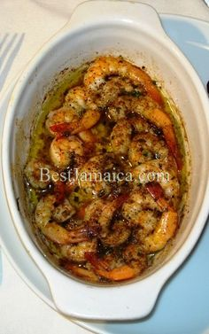 Jamaican Garlic Shrimp