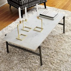 Marble slab coffee table. I need all the marble in my home.