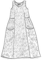 """Robe """"Anemone"""" en georgette de coton – Des imprimés fleuris – Gudrun Sjödén"""