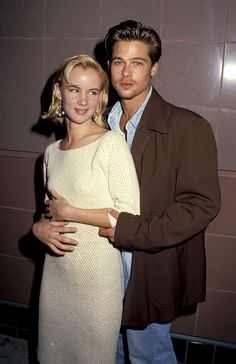 "Brad Pitt & Juliette Lewis - young couple that dated and appeared in the movie ""Kalifornia"" together..."