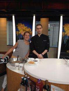 Chef Denis et Christina, co-propriétaire chez Fou D'ici  Ça commence bien - 12 août 2015