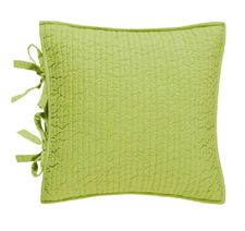 Dawn Aqua Lime Quilted Throw Pillow