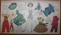 Clothilde paper doll / eBay
