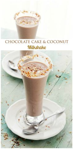 A Chocolate Cake and Coconut Milk Shake - you can have your cake, and drink it, too!