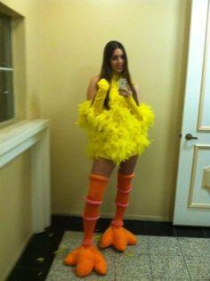 Big Bird Costumes & Big bird and Elmo costume Elmo- store bought Big bird- head piece ...