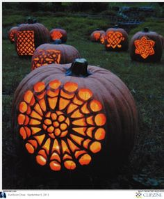 #PumpkinCarvingPatterns for novice and advanced. #falldecorations #halloweenpumpkin