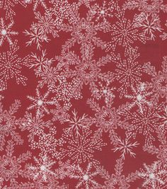 Christmas Tonal Snowflakes Red