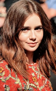 Daily Lily Collins   brown hair