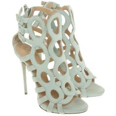 Pre-owned Stilettos in Mint ($330) ❤ liked on Polyvore featuring shoes, green, high heel stilettos, pre owned shoes, heels stilettos, giuseppe zanotti shoes and stilettos shoes #giuseppezanottiheelsstilettos