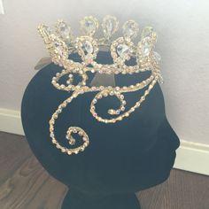 Professional Gold AB Crystal Ballet Tiara Headpiece Princess Aurora/Royalty NEW! #Handmade #RoyalHeartTiara