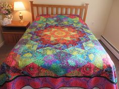 Kaleidoscope Quilt, Quilts For Sale, Custom Quilts, Custom Wall, Floral Fabric, Environment, Fabrics, Smoke Free, Bright