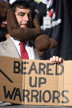 Beared Up Warriors #Fans #WarriorsForever #MrBear #Bear #Sign #Teddy
