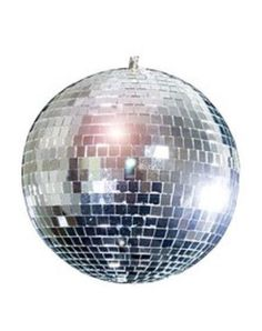 Disco Mirror Ball - 8 Inch Hundreds of Glass Mirror Pieces-Party Decoration