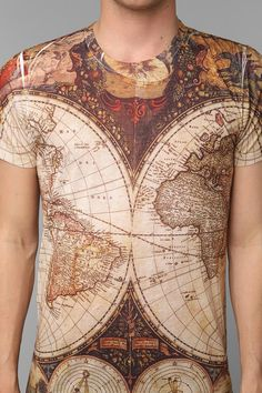 Ancient Map Allover Tee #urbanoutfitters #map