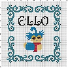 Ello Labyrinth  Cross Stitch Pattern  perfect gift. Love david Bowie in that movie.