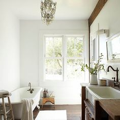 White is just the crisp, clean accent natural-wood touches need.