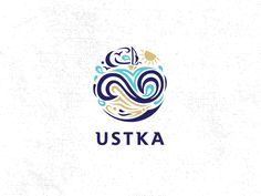 Ustka - town by Baltic Sea. Mark designed for gifts and promotional gadgets.