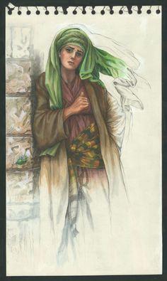 01-Judith-Meeting-Bethulia-Elders-Cartoon