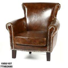 quieres dar un toque vintage, sillón de piel, ideal para el despacho, dormitorio, ¡¡ hay piezas que nunca pasan de moda !!