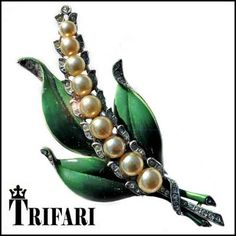 Lily of the Valley Clip by A. Philippe 4 Trifari