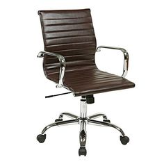 $165 - Office Star Thick Padded Office Chair with Built-in Lumbar Support & Reviews | Wayfair