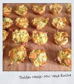 Cooking For Busy Mums: Toddler Meal - Mini Vege Quiche - Crustless