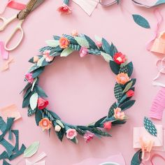 Spring calls for a celebration! Celebrate with a floral crown. Learn how to make it on the blog!