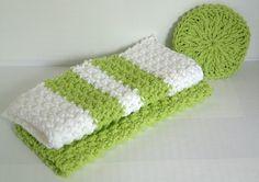 Lime Facial Cloth and Scrubbie Cotton Wash, $7.50  karnivalofkrafts.etsy.com